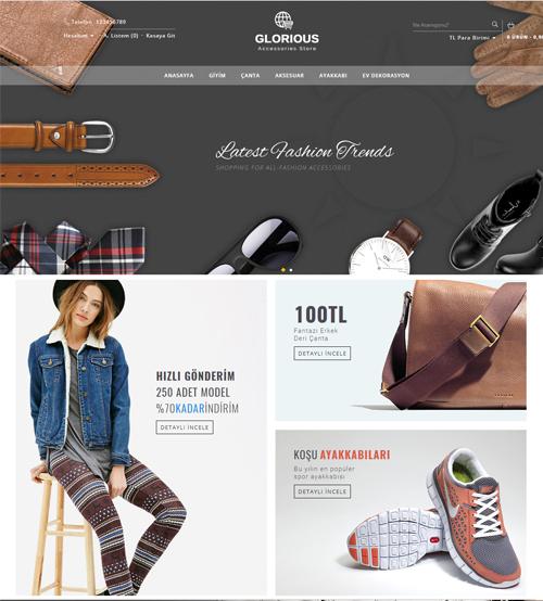Aksesuar ve Tekstil Ürünleri Satış sitesi