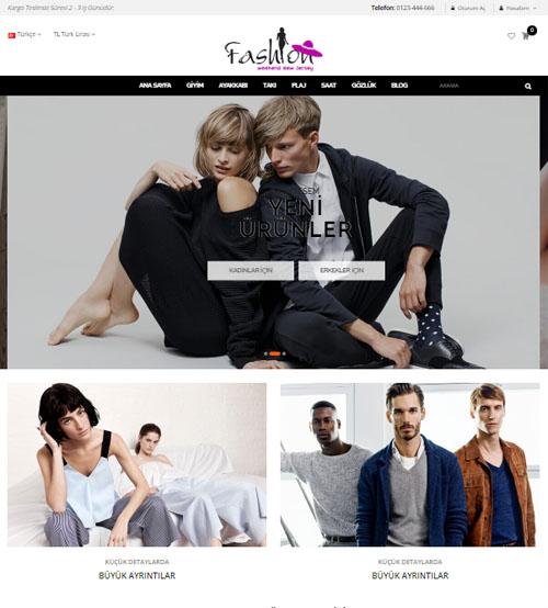 Opencart Giyim-Kozmetik Teması